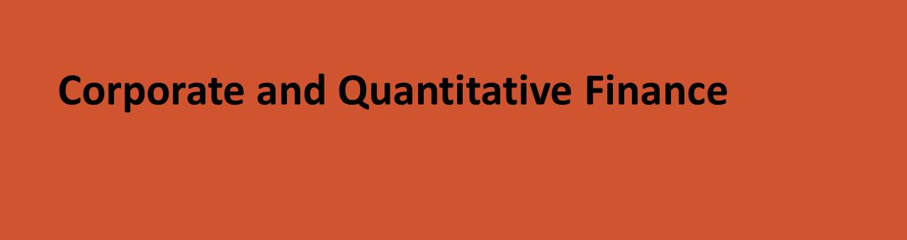 Corporate and Quantitative Finance