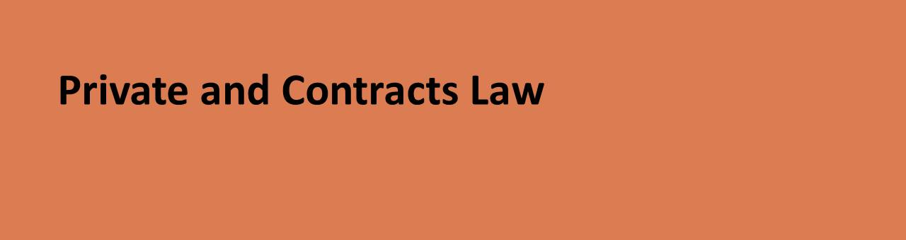 Private and Contracts Law