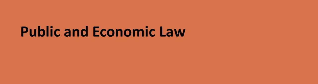 Public and Economic Law